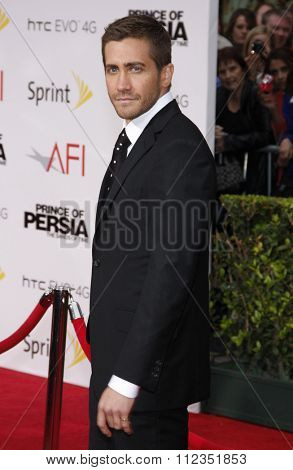 HOLLYWOOD, CALIFORNIA - May 17, 2010. Jake Gyllenhaal at the Los Angeles premiere of