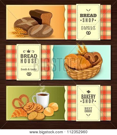 Bread House Horizontal Banners set