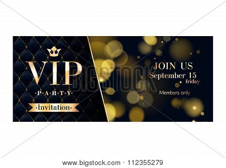 VIP invitation cards premium design templates.