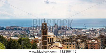 Port Of Genoa In Italy