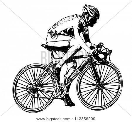 race bicyclist illustration 2 - vector