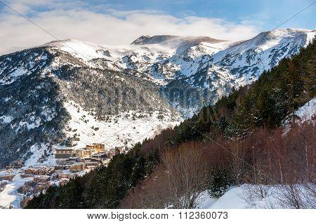 Aerial View Of El Tarter In Andorra