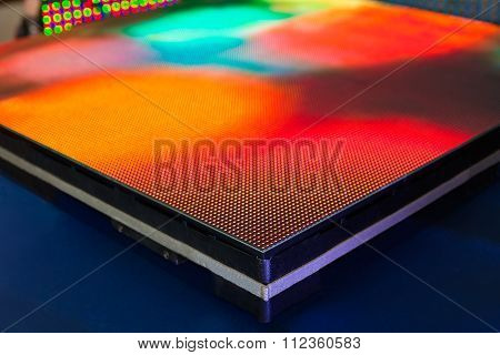 Side Of The Panel Rainbow Colored Led Screen