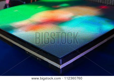 Side Of The Panel Of Green Colored Led Screen