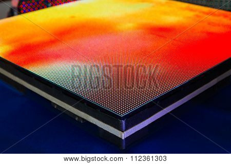 Side Of The Panel Of Yellow Colored Led Screen