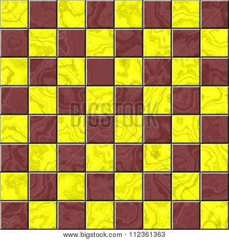 Vintage chess board background. Illustration of grunge checker board