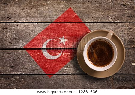 Flag With Coffee