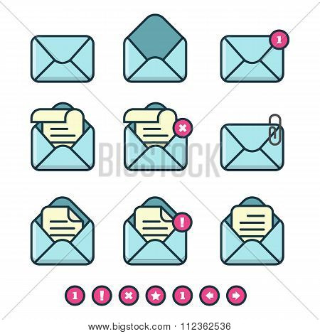 Vector Set Of Mail Icons