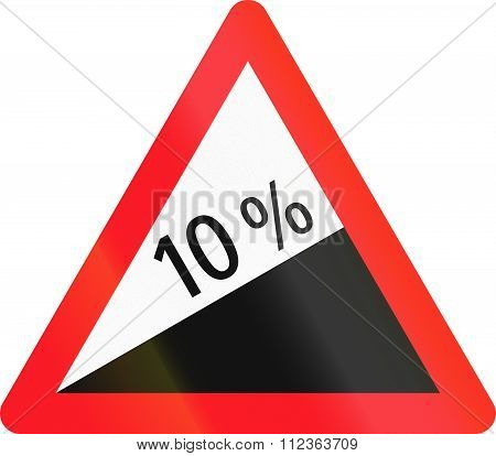 Warning Sign Used In Switzerland - Heavy Uphill Grade