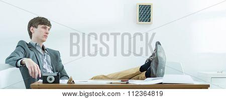 Creative Worker Having Break