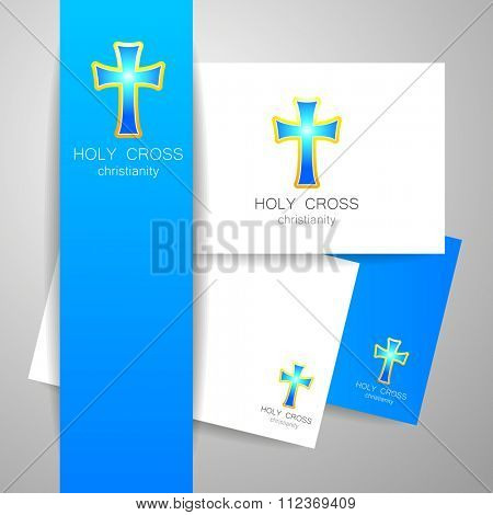 Holy Cross - the sign pattern design. The idea for the logo of the church, religious organizations, associations and others.