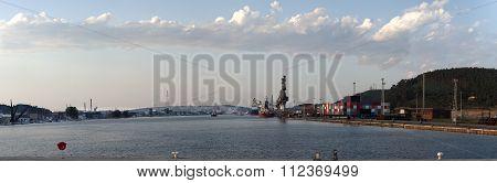 Panoramic Aviles Harbor