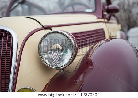 Close Up Detail Of A Vintage Car