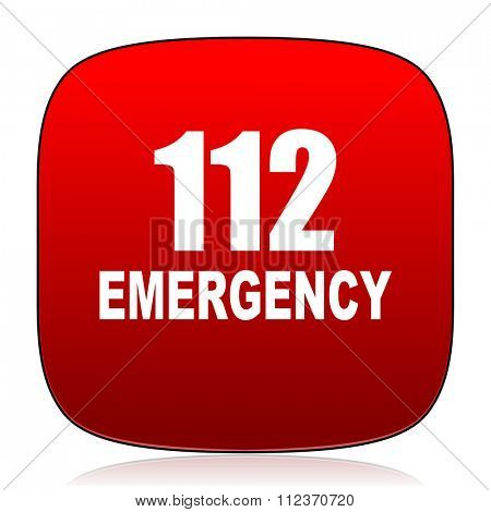 number emergency 112 icon