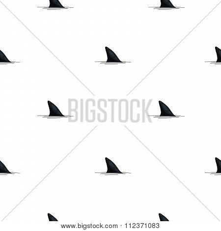 Seamless pattern of shark fins