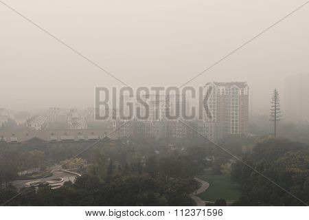 air pollution in Beijing city