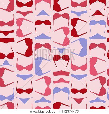 Bra And Panties Colorful Seamless Pattern