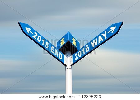 2015 End And 2016 Way Signs