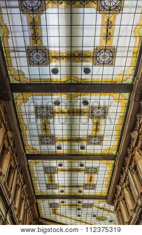 Decorated Glass Ceiling