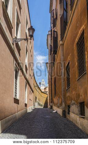 Scenic Street In Rome