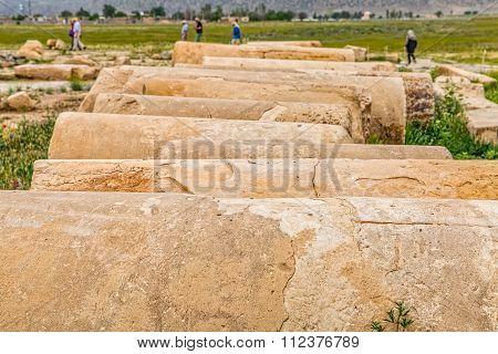 Pasargadae columns remains