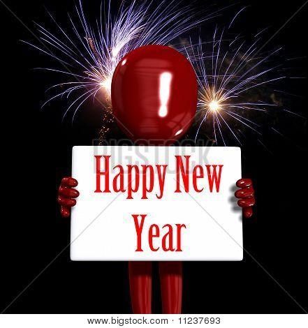 Figura de feliz ano novo