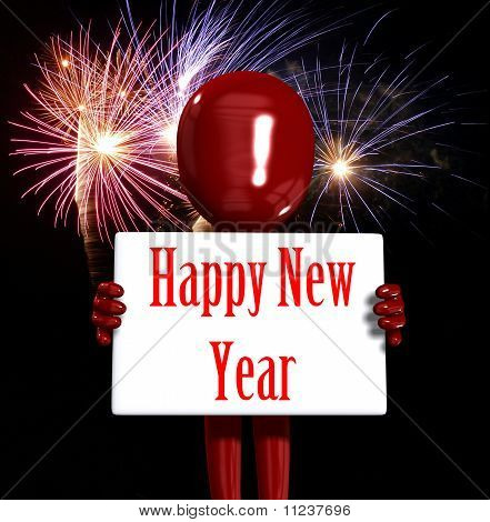 Frohes neues Jahr-Abbildung
