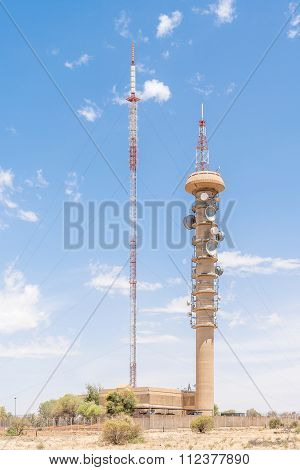 Microwave Telecommunications And Tv And Radio Broadcast Towers