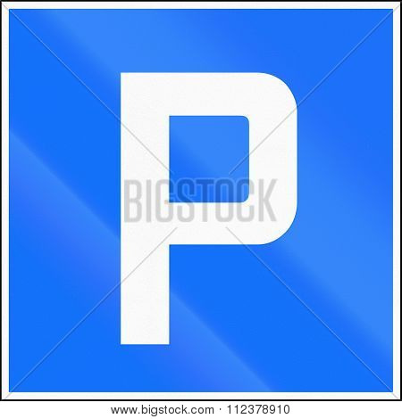 Road Sign Used In Switzerland - Parking Place