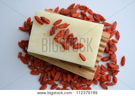 Natural Soap with goji berries