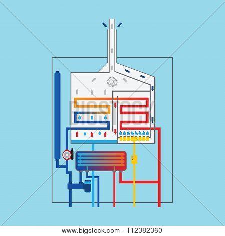 Condensing Gas Boiler.