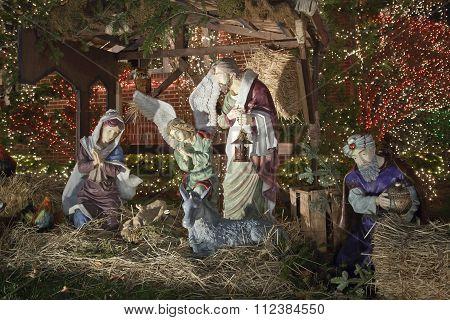 Christmas Nativity Scene In Brooklyn New York