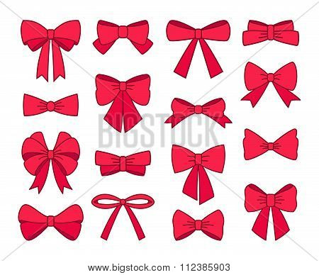 Collection of different cute bows