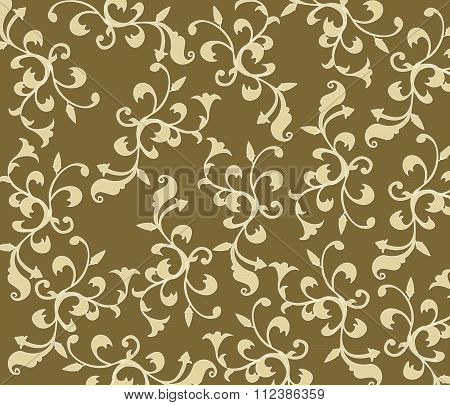 Gothic style vintage floral pattern