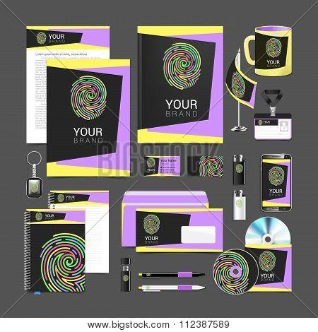 set design Gift template Corporate identity fingerprint