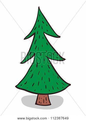 Hand-drawn Fir-tree