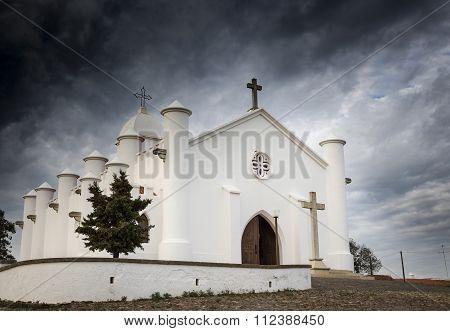 S. Domingos white church, Mina de Sao Domingos village, Mértola, Portugal