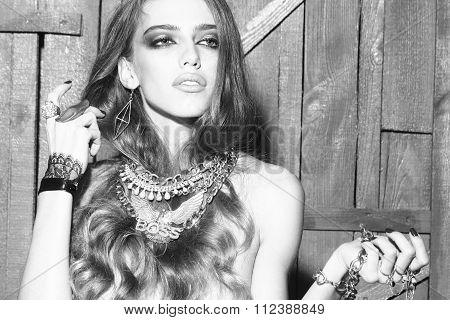 Pretty Woman With Jewellery