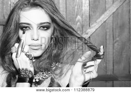 Glamour Girl With Jewellery