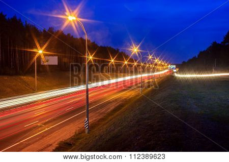 Traffic At Nightfall