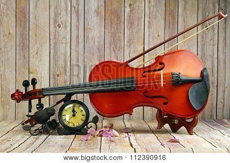 A violin still life