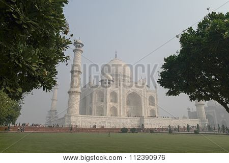 Taj Mahal In Agra, Uttar Pradesh, India From The Different View.