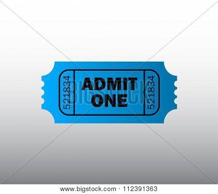 Blue retro cinema ticket