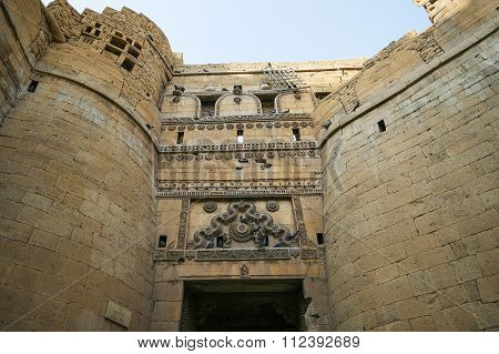 Different Parts Of Golden Fort Of Jaisalmer, Rajasthan India.