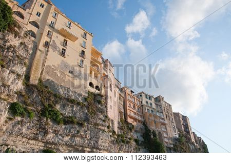 The Town Of Tropea , Calabria , View From The Sea