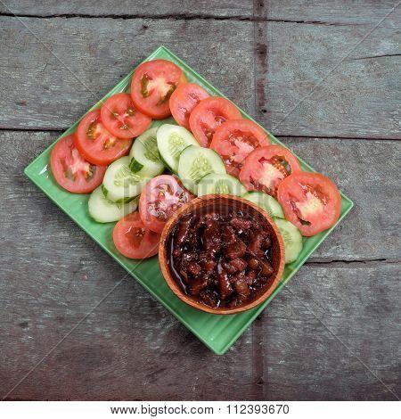 Vietnamese Food, Shrimp Paste Cook With Pork