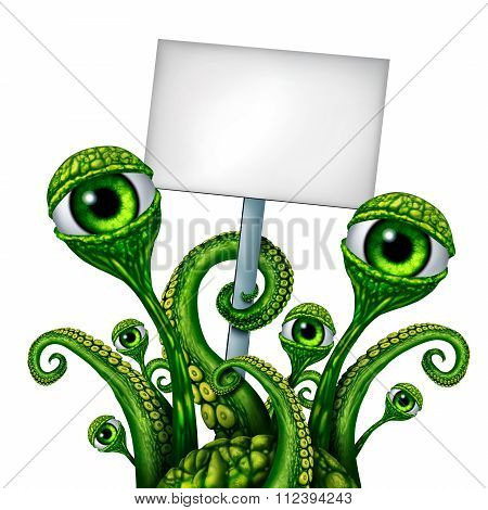 Space Alien Creature Sign
