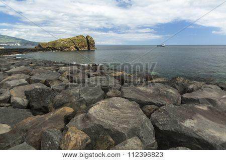 Sao Miguel island coast, the Azores in the Atlantic ocean.