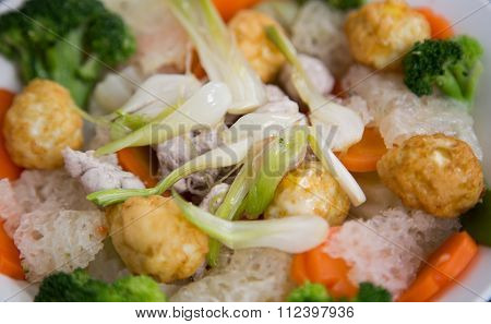 Vietnamese traditional bowl of mixed food