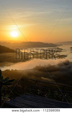 Beautiful View At Sunset At Phuhuayesan, Nong Khai Provience, Thailand